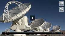 Watch video of the ALMA astronomical telescopes