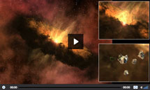 Watch video of the disc around a young star