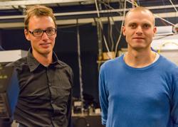 Professor Peter Lodahl and Associate Professor Søren Stobbe