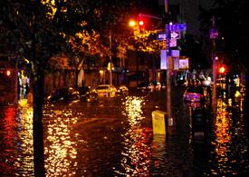 The hurricane Sandy in New York