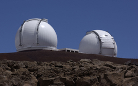 Two 10-meter Keck telescopes