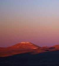 Mountain Cerro Armazones with leveled top