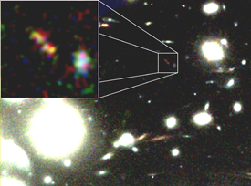 Galaxy cluster found by the Hubble Space