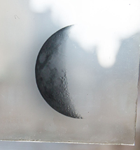 Glass plates showing the phases of the moon