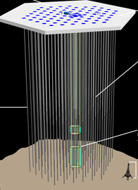 Illustration of the IceCube experiment