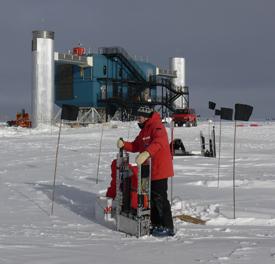 Jason Koskinen at the South Pole