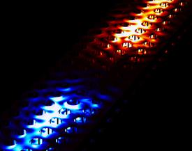 Directional emission of light