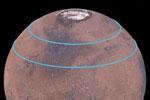 Mars har bælter af gletsjere bestående af frossent vand