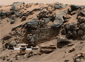 Picture of the Hidden Valley on Mars