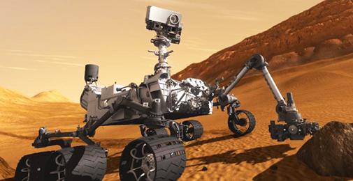 The Mars rover Curiosity