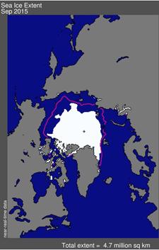 How the arctic ice is receding