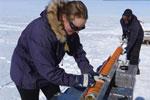 Mængden af havis kan spores i iskappen på land
