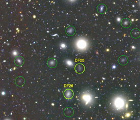 Observed ultra-diffuse galaxies in the galaxy cluster, Coma