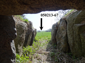 Photo taken out from the entrance of a passage grave