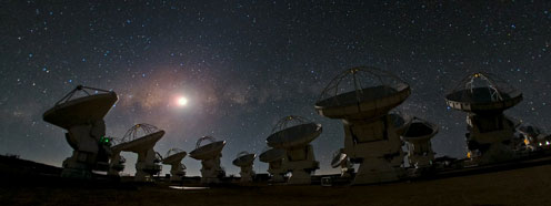 ALMA (Atacama Large Millimeter / Submillimeter Array) in Chile