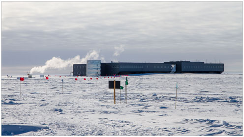 Buildings of the Ice Cube Experiment
