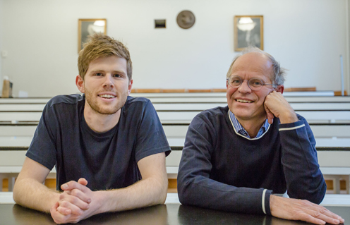 Professor Mogens Høgh Jensen and PhD student Mathias Heltberg