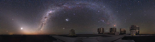 The telescope, VLT, in Chile