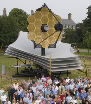 A full scale model of the James Web Space Telescope