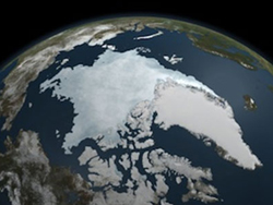 Aerial photo of the Arctic Sea