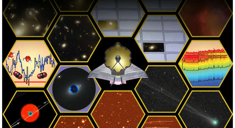 Artist's impression of the scientific capabilities of the James Webb Space Telescope.