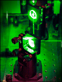 Laser guided with mirrors