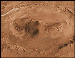 The large crater, Gale on Mars