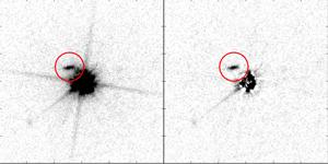 Detection of galaxy using quasar light