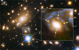 Light from supernova