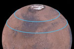 Mars has belts of glaciers consisting of frozen water