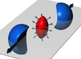 Small droplet of quark-gluon plasma as result of off-center particle collision