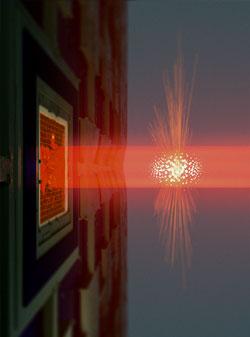 Light used to measure vibrating membrane