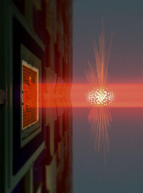 Smart atomic cloud solves Heisenberg's observation problem