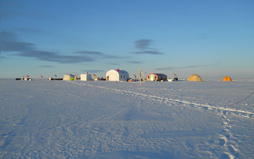The Centre for Ice and Climate's base in Greenland