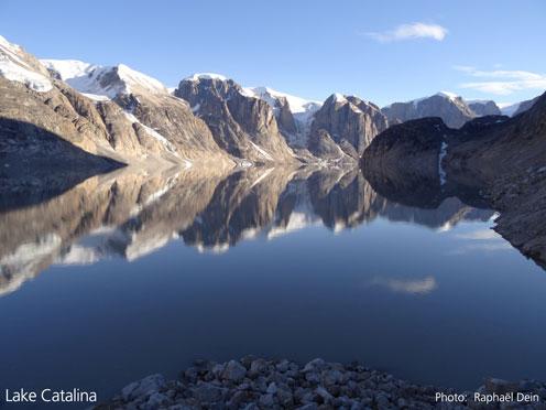Fotografi af Lake Catalinas overflade