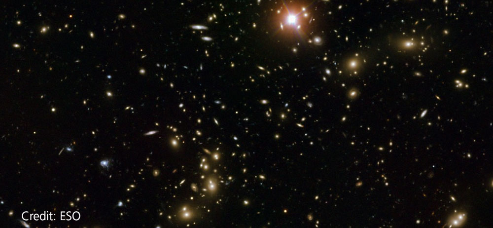 Large scale structure of space - multiple galaxies