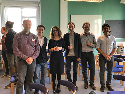 Filippo with Supervisor and Assemssment Committee. From left: Jørgen Peder Steffensen, Filippo Botta, Sandra Nogue-Bosch, Alistair Seddon and Anders Svensson.