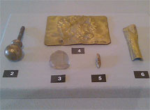 Finds from the excavation