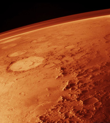 Picture Mars from orbit