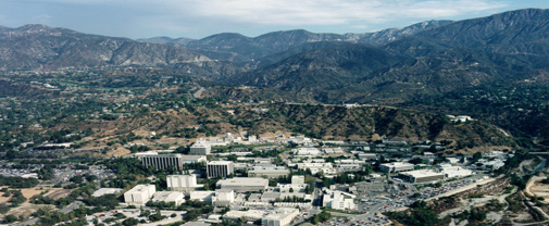 Aerial photo of NASA's Jet Propulsion Laboratory