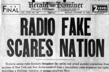 "Title: ""Radio Fake Scares Nation"""