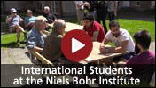 International students at the Niels Bohr Institute